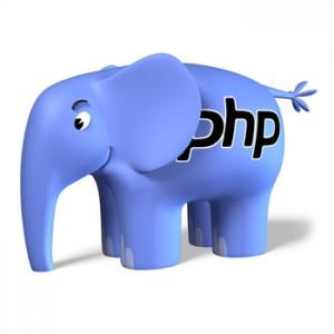 éléPHPant, logo de PHP, dessiné en 1998 par El Roubio